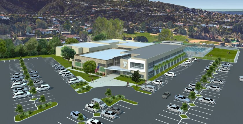 Artist's rendering of a more than $15 million planned renovation to the La Jolla YMCA's facility near Cliffridge Park, set to break ground in August. In a letter to its members, La Jolla YMCA said these are 'preliminary renderings,' and that the design could change.