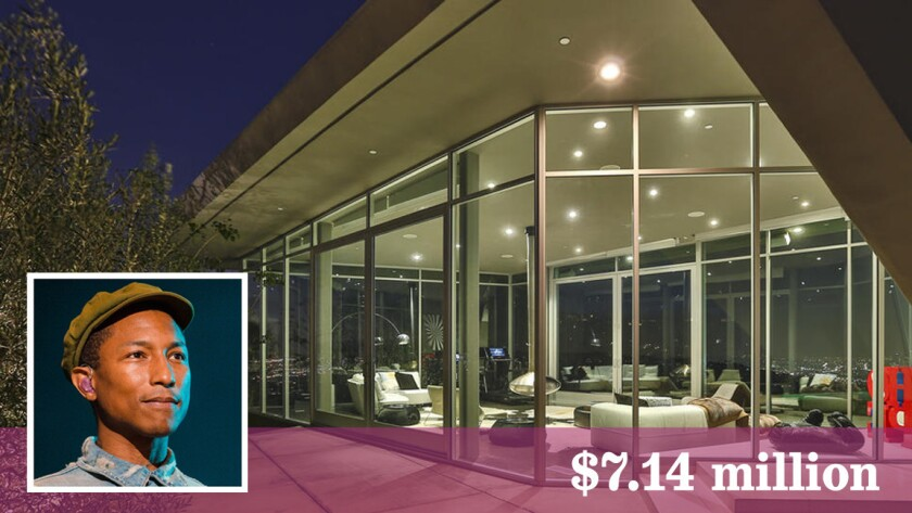 Singer Pharrell Williams has bought a contemporary home in Hollywood Hills.