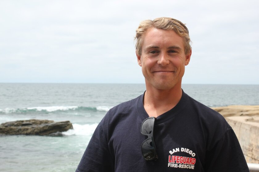 Lifeguard David Dupont was born and raised in Pacific Beach, and attended the La Jolla High School for three years.