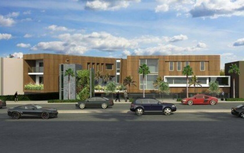 Members of the DPR subcommittee denied approval of this mixed-use development, proposed for land currently used as a rear parking lot at Vons on Girard Avenue.