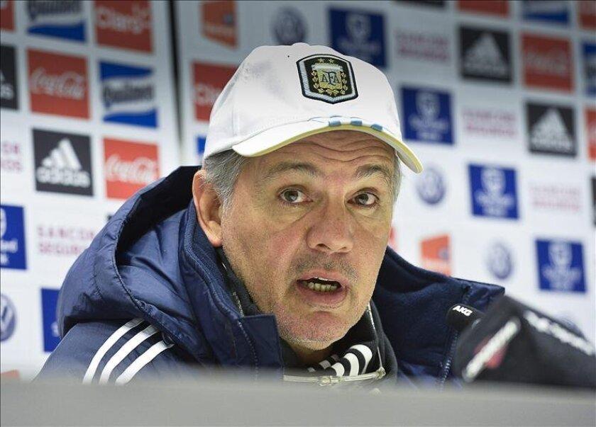 En la imagen, el seleccionador argentino, Alejandro Sabella. EFE/Archivo