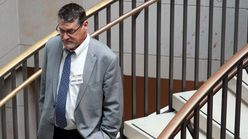 Glenn Simpson, co-founder of the research firm Fusion GPS, has been providing private testimony to congressional committees.
