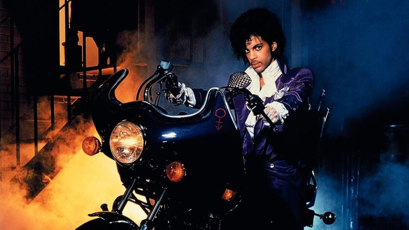 "Prince in 1984's ""Purple Rain."""