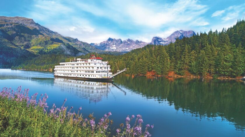 The American Pride cruises in the Pacific Northwest on a tour of the Columbia and Snake rivers.