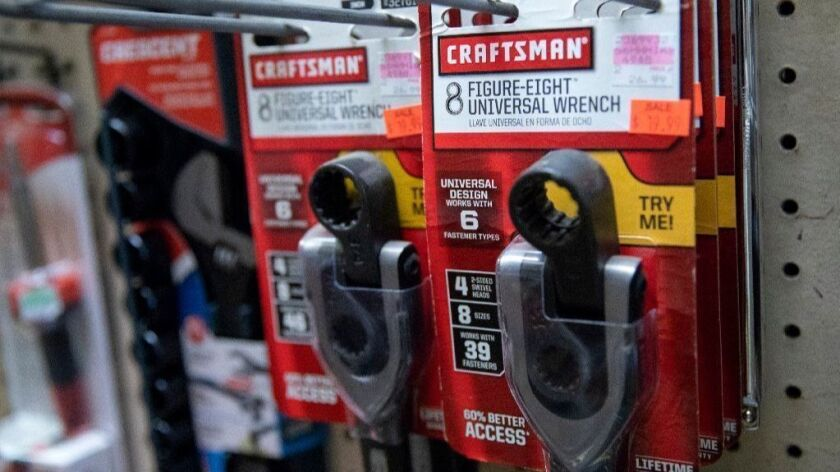Craftsman figure-eight universal wrenches are for sale at Lakeview Ace Hardware on Aug. 20, 2018, in Chicago.