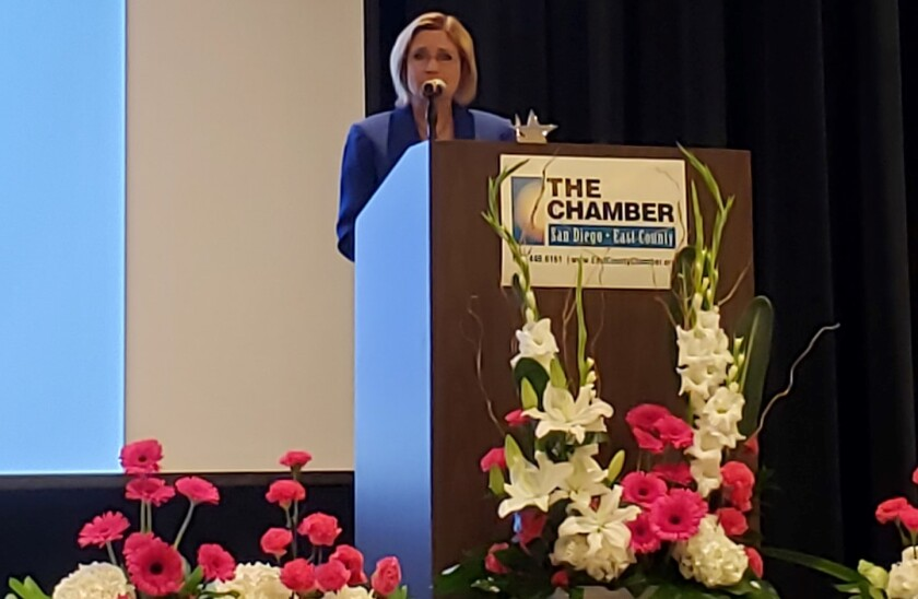 Santee City Manager Marlene Best was a winner at the East County Chamber of Commerce's 2019 Women In Leadership Luncheon