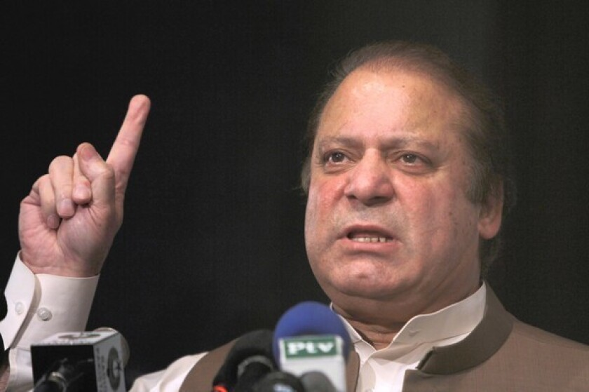 Pakistan's former Prime Minister Nawaz Sharif, pictured last week, has a record of striving toward improved relations with India.