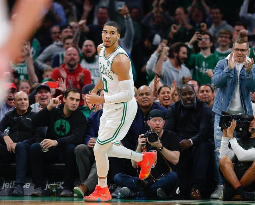 En la imagen, Jayson Tatum de Boston Celtics. EFE/Archivo