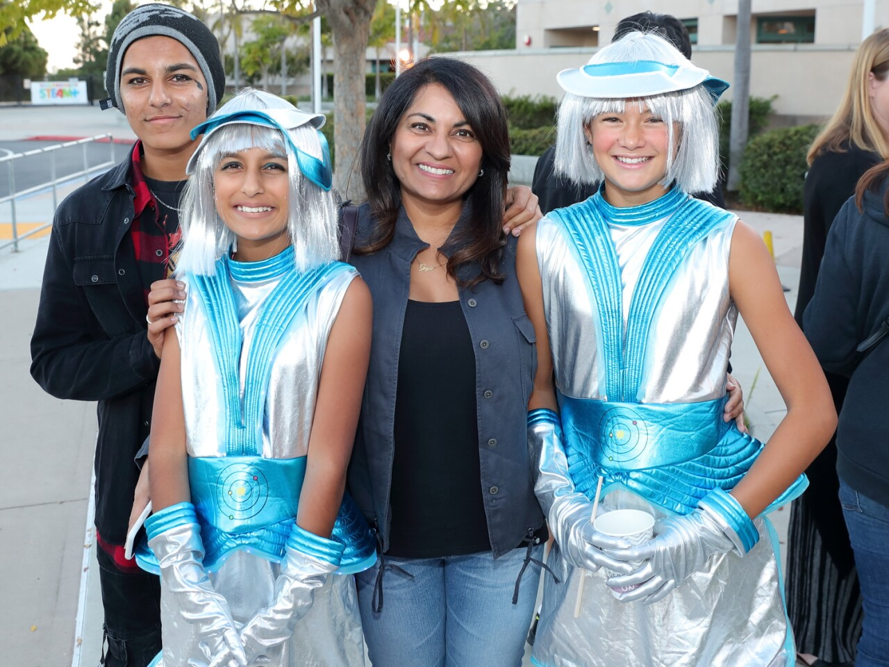 Vikram, Anjali, and Gayle Sandra with Ebba Carling