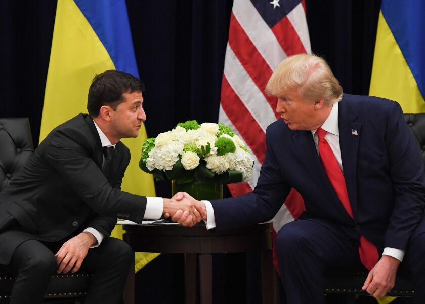 Letters to the Editor: Trump's behavior has always been bizarre. Why are we surprised by Ukraine?