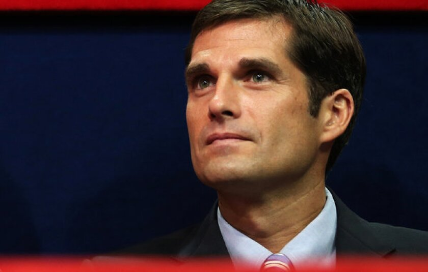 Matt Romney, shown at last year's Republican National Convention where his father was nominated for president, said Friday that he would not be a candidate to succeed San Diego Mayor Bob Filner.