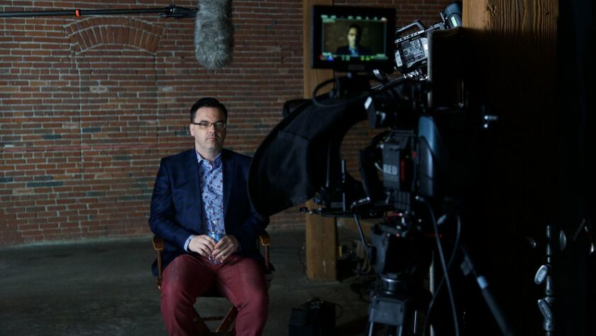 """Mauro Ranallo is photographed by Showtime Sports for the documentary """"Bipolar Rock 'n' Roller"""" premi"""