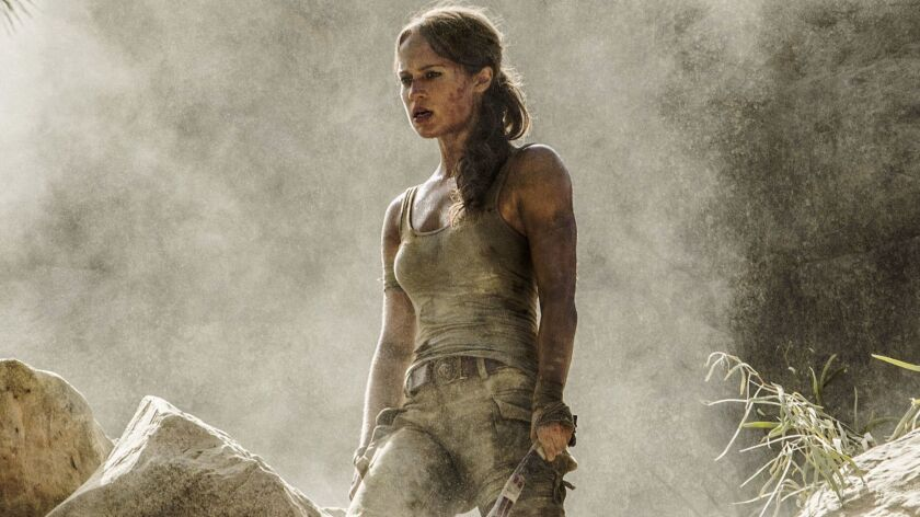 "Alicia Vikander in Warner Bros.' ""Tomb Raider."""