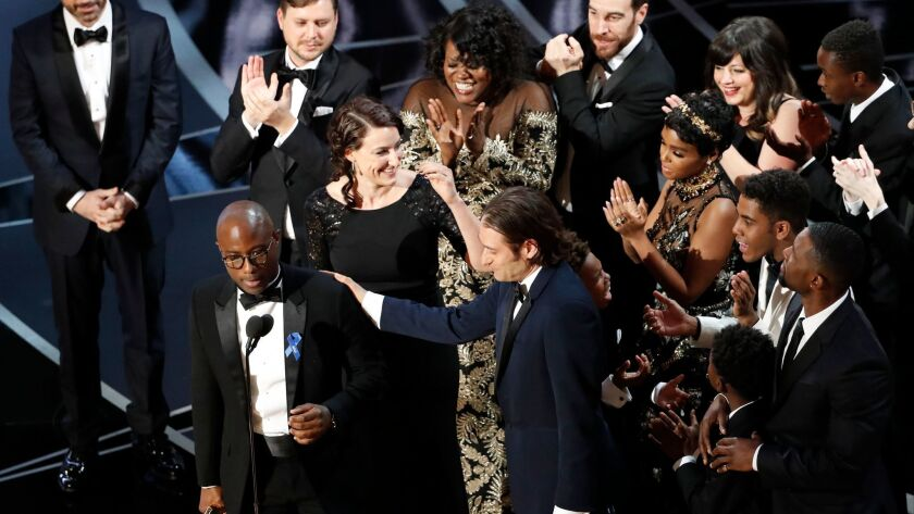 HOLLYWOOD, CA - February 26, 2017 BARRY JERKINS ACCEPTS THE WIN FOR MOONLIGHT, BEST PICTURE WHEN WA