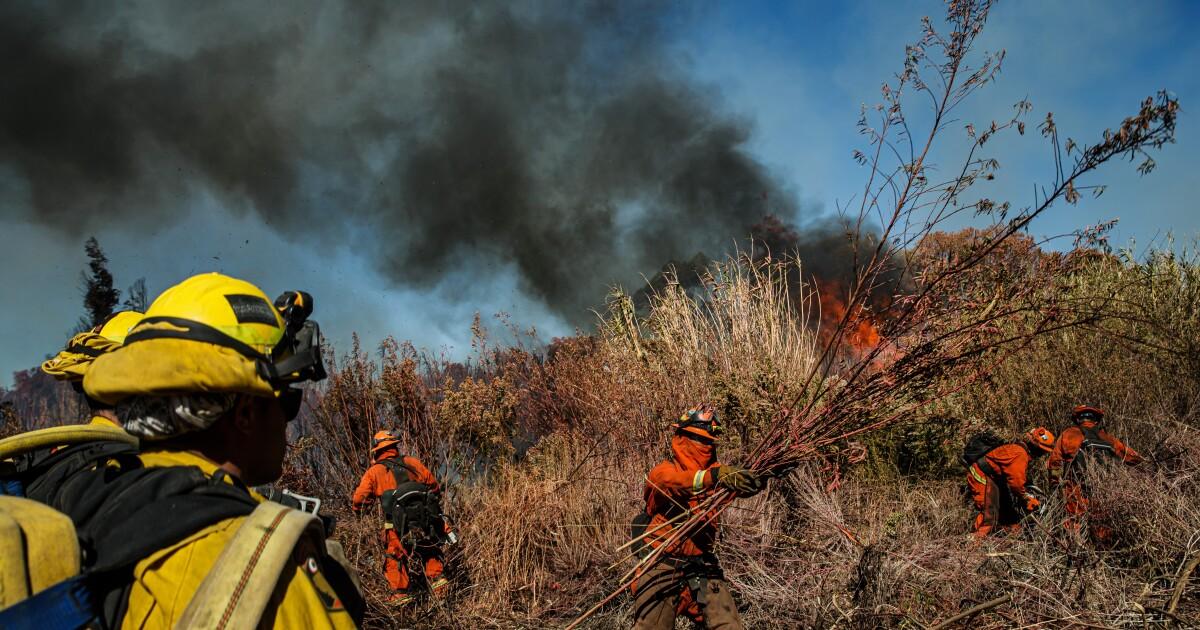 Die Feuerwehr endlich in den Griff Waldbrände brennen in Kalifornien