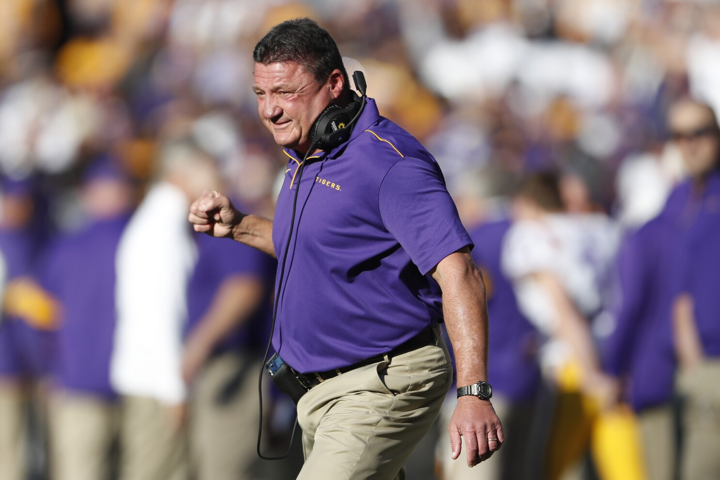 Ed Orgeron Is Right At Home In Leading Lsu To The Top Los Angeles Times