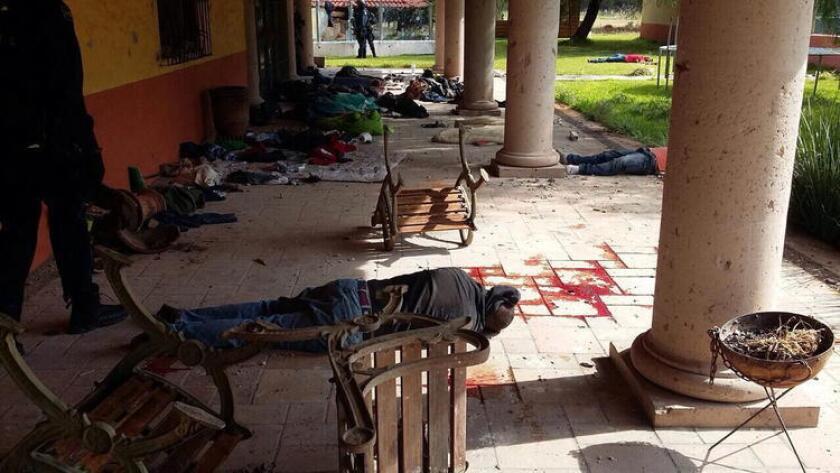 El pasado 22 de mayo, la Policía Federal reportó un enfrentamiento con presuntos integrantes del Cártel Jalisco Nueva Generación, ocurrido en el rancho El Sol, municipio de Tanhuato. El saldo fue de 43 muertos.