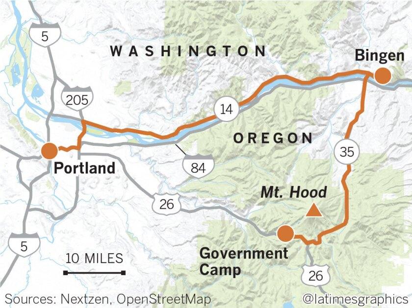mount hood oregon map Road Trip Pacific Northwest Loop Leads You To Fabulous Falls mount hood oregon map
