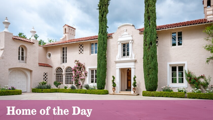 The Spanish Colonial Revival-style estate in La Cañada Flintridge dates to 1924.