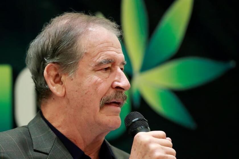 El expresidente de México Vicente Fox habla durante una rueda de prensa. EFE/Archivo