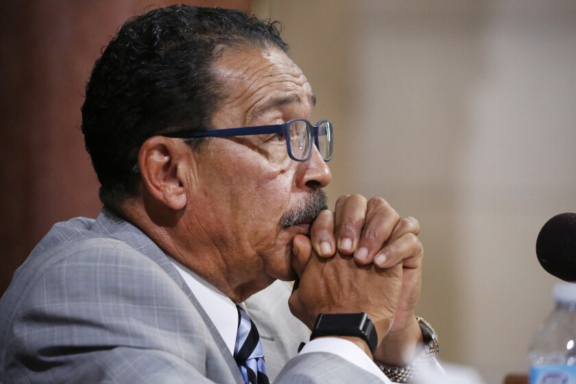 Los Angeles City Council President Herb Wesson unveiled plans Wednesday for a ballot measure that would allow police disciplinary panels to be made up entirely of civilians.