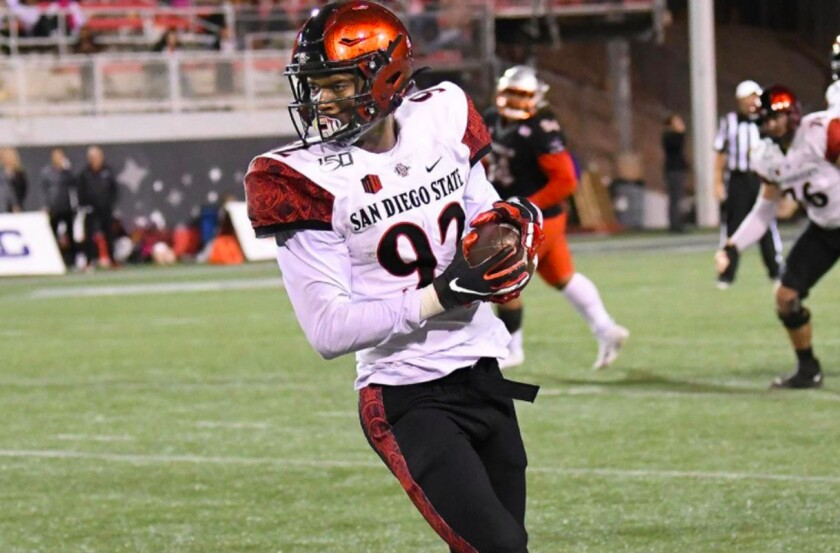 San Diego State wide receiver Kobe Smith has been among SDSU's leading receivers the past three years.