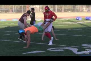 Summer fun for football players