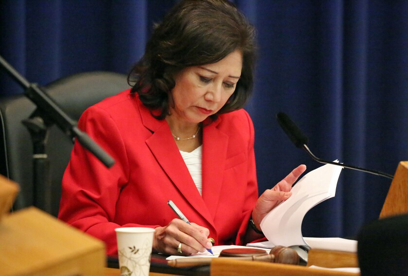 Los Angeles County Supervisor Hilda L. Solis has proposed a licensing program for immigration consultants working in unincorporated county areas.