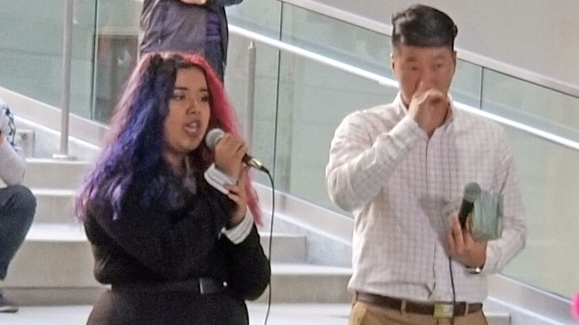 Kaylee Rodriguez, 15 of Norwalk, came to The Source OC's Radio Korea Live Stream Street Karaoke even