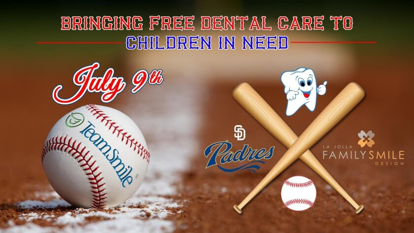 The doctors and staff of La Jolla Family Smile Design are once again teaming up with TeamSmile and professional sports teams to offer free dental care for children in need.