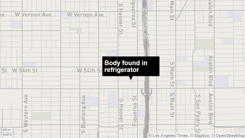 Body found in refrigerator