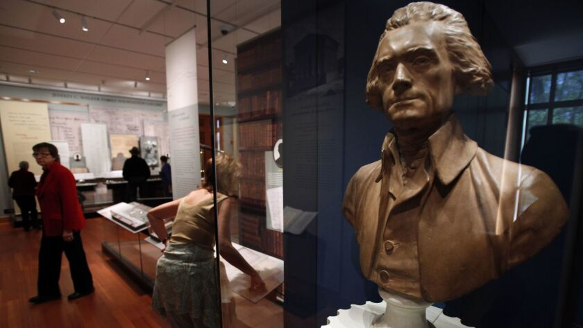 A bust of Thomas Jefferson at Monticello in Charlottesville, Va., in 2009.