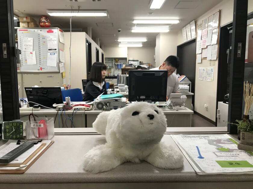 Paro, a robot seal made in Japan