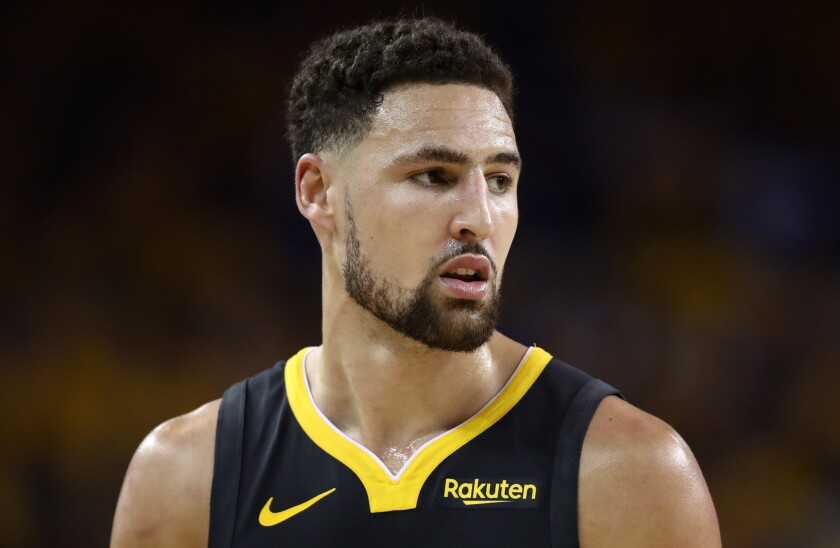 Klay Thompson tore his left anterior cruciate ligament during Game 6 of the NBA Finals in June.