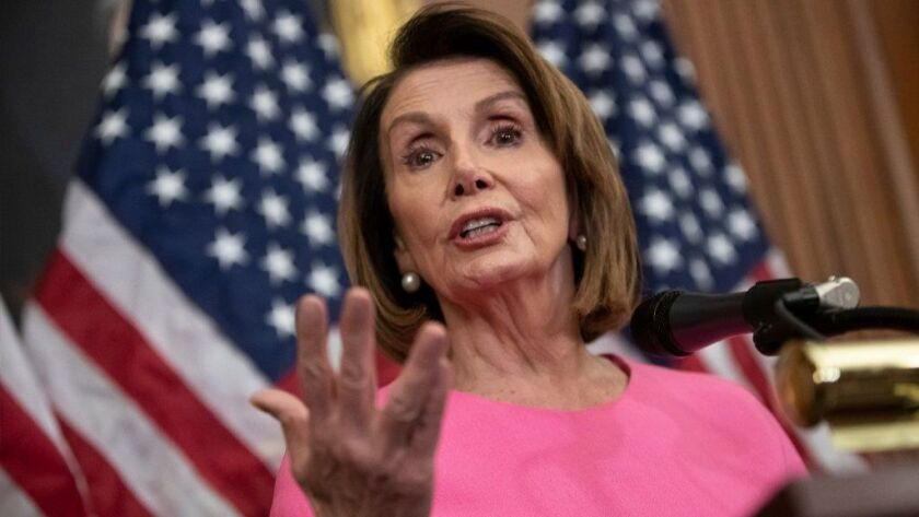 House Minority Leader Nancy Pelosi speaks during a news conference on Capitol Hill in Washington in early November.