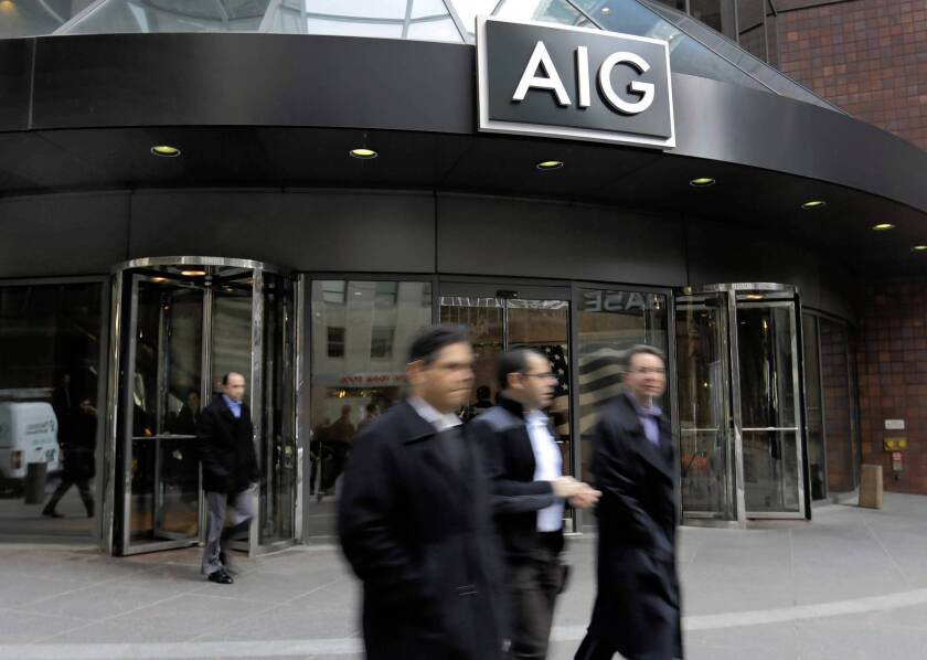 American Internation Group will consider joining a suit that argues the bailout — U.S. pledges totaling more than $182 billion — shortchanged the company's shareholders. Above, the company's building in New York.