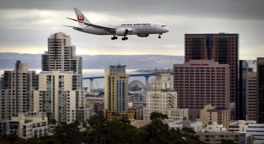 San Diego's nonstop flights to Japan have been less frequent with the grounding of the Dreamliner