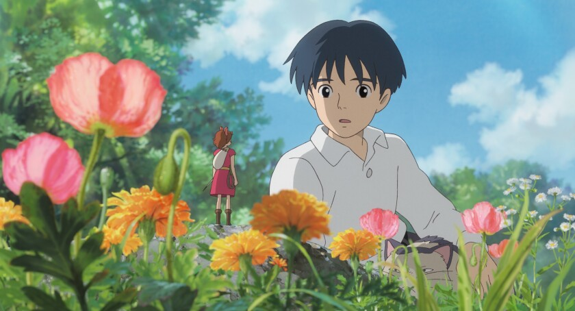 Sho and Arrietty in 'The Secret World of Arrietty'