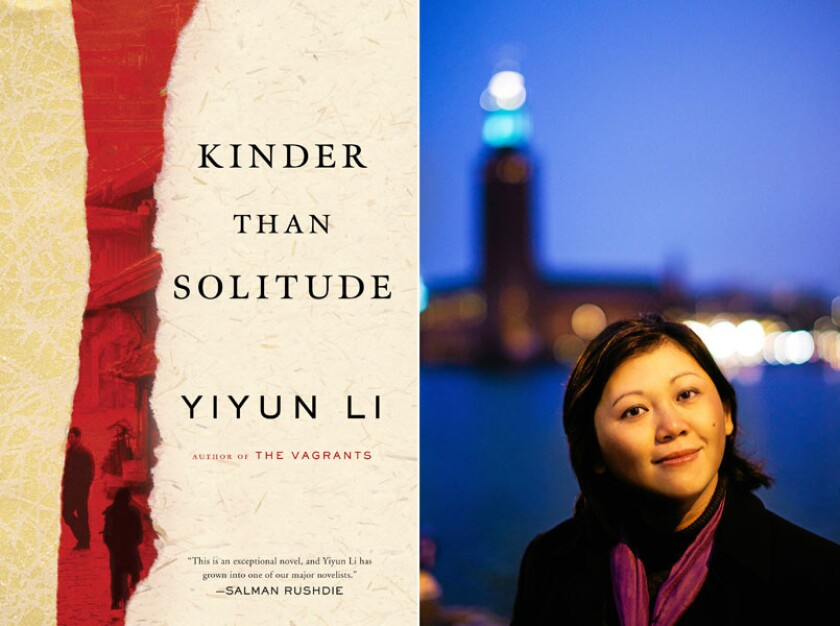 "The cover of ""Kinder Than Solitude"" and author Yiyun Li."