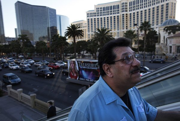 Frankie Citro, a Las Vegas resident since the late 1960s, walks past some of the casinos he is barred from owning, managing or even entering because he is in the Nevada Gaming Control Board's Black Book.