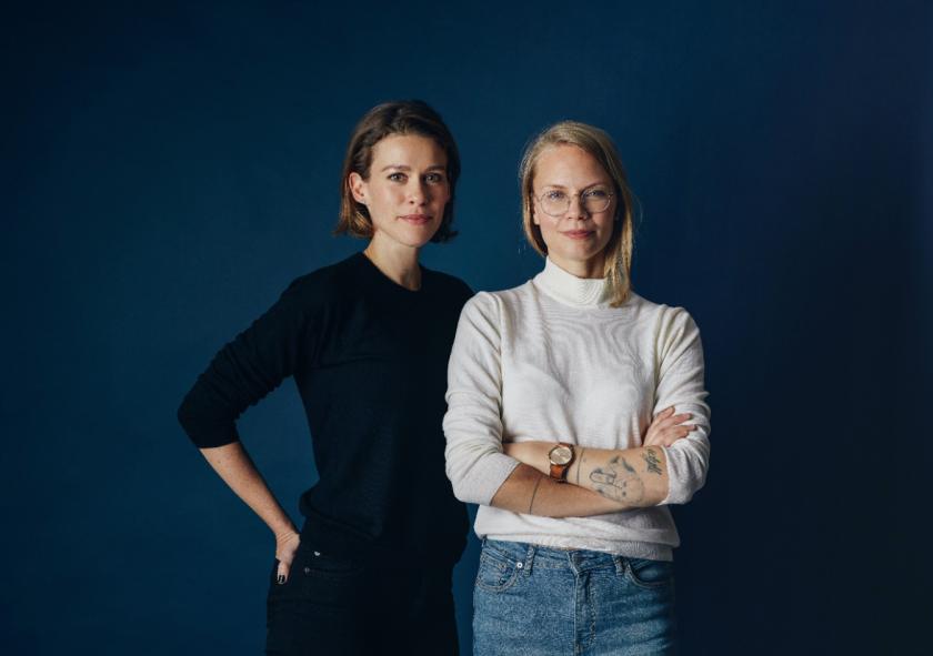 Martina Österling, left, and Elin Sandström Lundh are managing partners of Albatros talent agency.