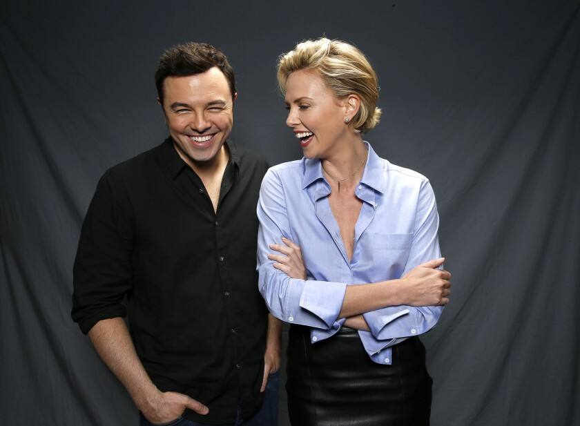 """Seth MacFarlane and Charlize Theron star in """"A Million Ways to Die in the West."""""""