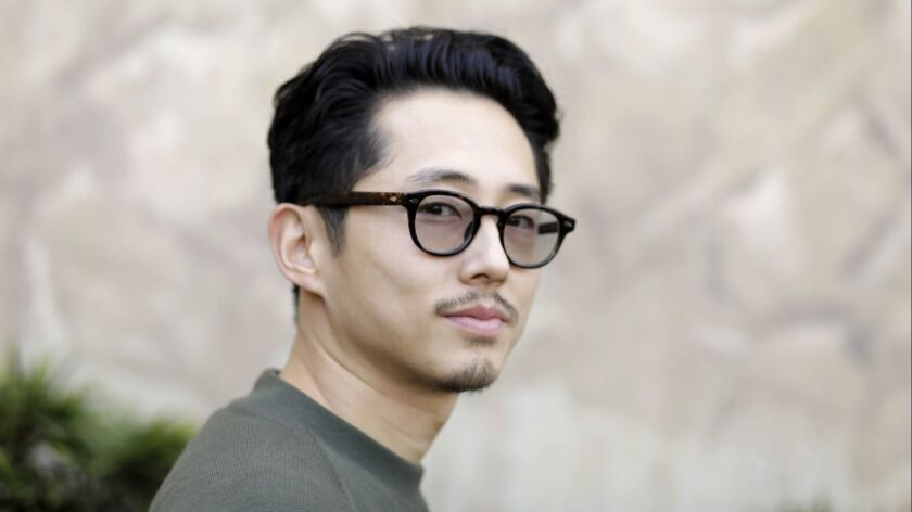 "LOS ANGELES, CA-OCTOBER 23, 2018: Steven Yeun, one of the stars of the upcoming indie ""Burning,"" is"
