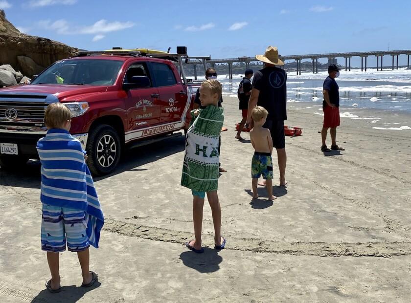 Garrett beach rescue