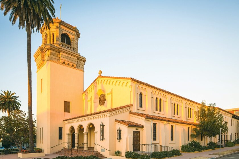 St. James by-the-Sea Episcopal Church's building at 743 Prospect St. in La Jolla, was built in 1928.