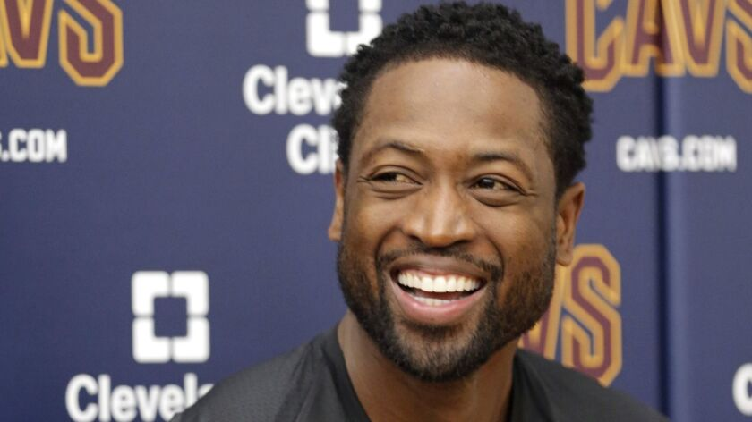 """Dwyane Wade, shown in 2017, is set to release his second book, a memoir titled """"3 Dimensional,"""" this fall."""