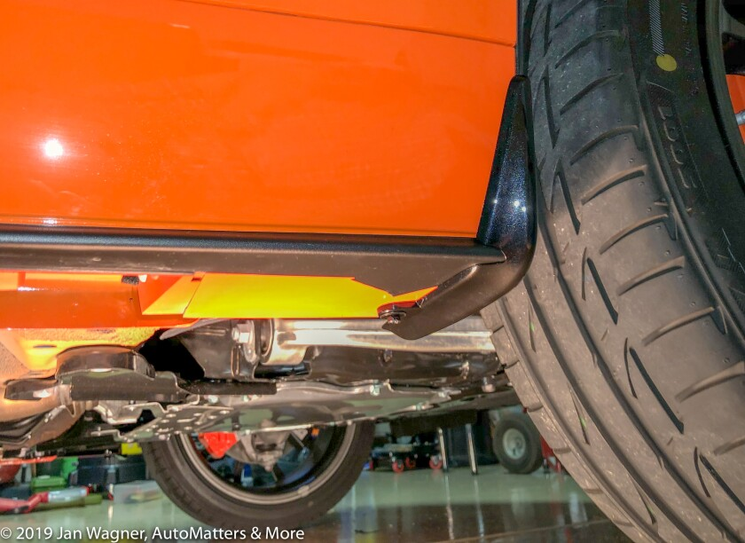 01835-20190902 Installation at home of genuine Mazda Mud Flaps - front & rear - on 2019 Mazda MX-5 Miata 30AE - featuring Jack nut-iPhone X