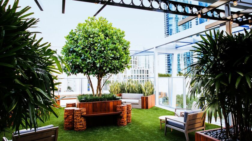 The new Rooftop @ 1WLO in Fort Lauderdale features an alfresco chic lounge and bar seating on the seventh floor of the One West Las Olas building.