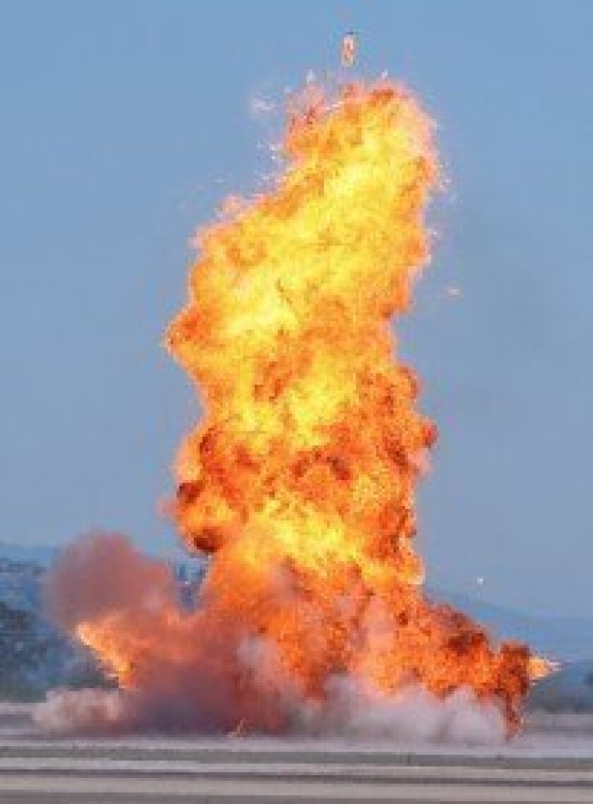 Explosion during MAGTF demonstration