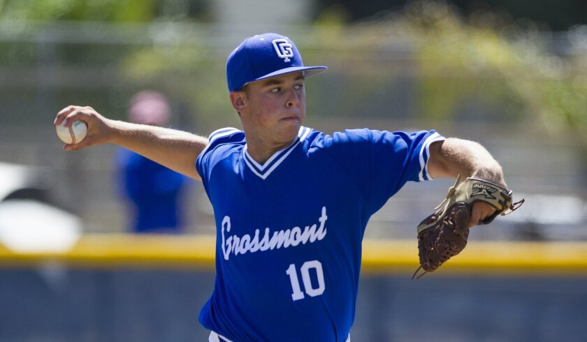 Grossmont junior Jayden Lombardo tossed a four-hitter to lead the Foothillers to victory in the championship game of the Bill Dickens City-East Tournament.